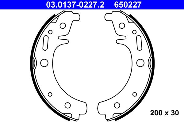 Brake shoes 03.0137-0227.2 ATE — only new parts