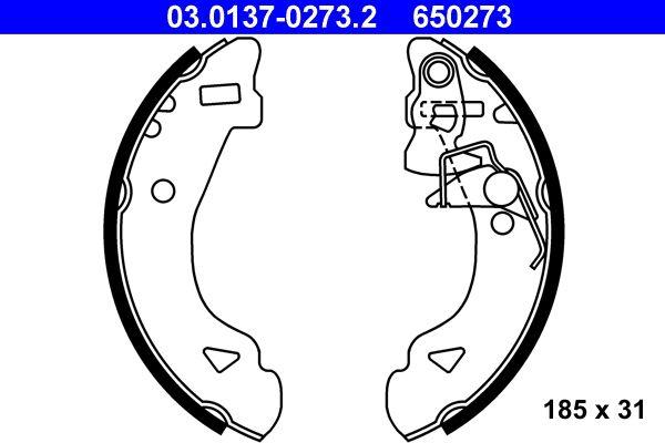Original FIAT Bremsbeläge für Trommelbremsen 03.0137-0273.2