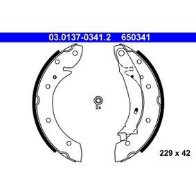 650341 ATE mit Hebel Trommel-Ø: 229, Breite: 42mm Bremsbackensatz 03.0137-0341.2 günstig kaufen
