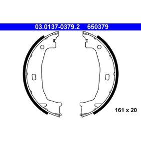 03.0137-0379.2 Juego de zapatas de frenos, freno de estacionamiento ATE - Productos de marca económicos