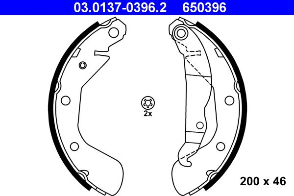 Drum brake pads 03.0137-0396.2 ATE — only new parts