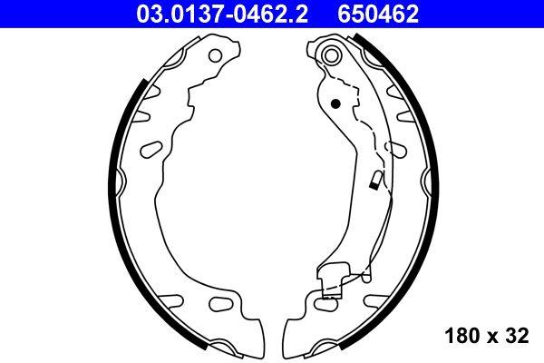 650462 ATE mit Hebel Breite: 32mm Bremsbackensatz 03.0137-0462.2 günstig kaufen