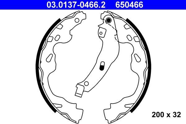 03.0137-0466.2 Bremsbackensatz ATE in Original Qualität