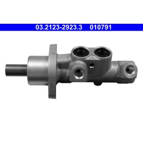 010791 ATE Anschlussanzahl: 2, Ø: 23,81mm Hauptbremszylinder 03.2123-2923.3 günstig kaufen