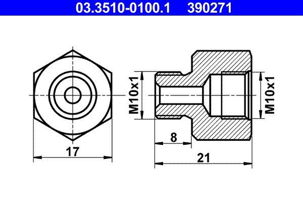 OE Original Bremsleitungssatz 03.3510-0100.1 ATE