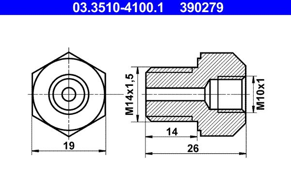 Brake line 03.3510-4100.1 ATE — only new parts