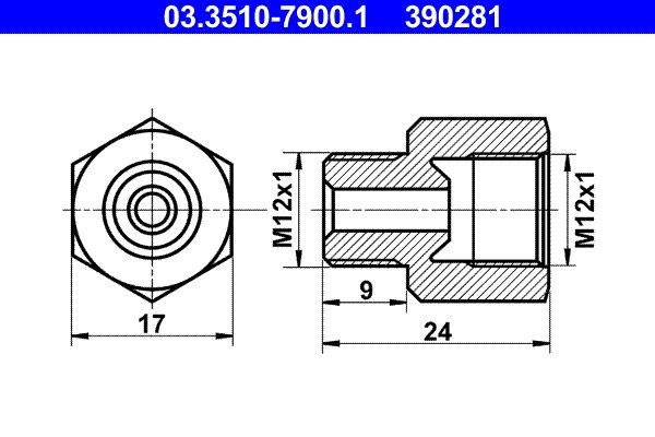 OE Original Bremsleitungen 03.3510-7900.1 ATE