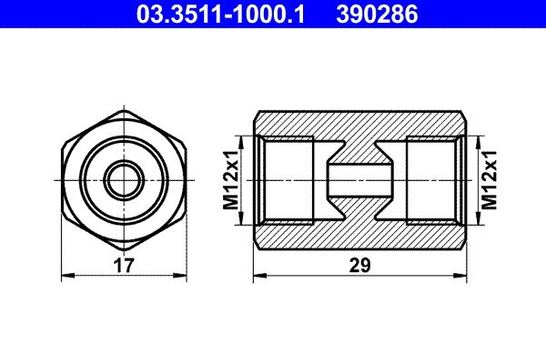 Brake line 03.3511-1000.1 ATE — only new parts
