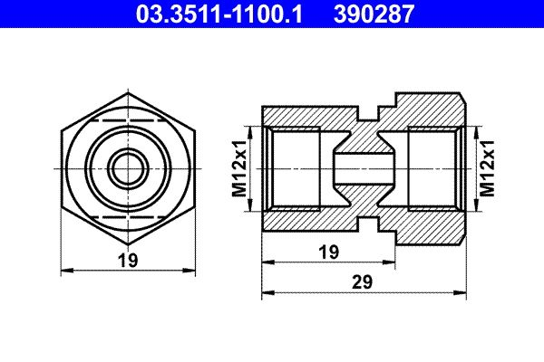 OE Original Bremsleitungen 03.3511-1100.1 ATE