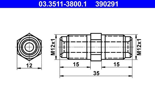 OE Original Bremsleitungen 03.3511-3800.1 ATE