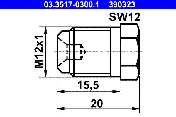 Ricambi BMW 502 1961: Tappo filet., cilindro maestro del freno ATE 03.3517-0300.1 a prezzo basso — acquista ora!