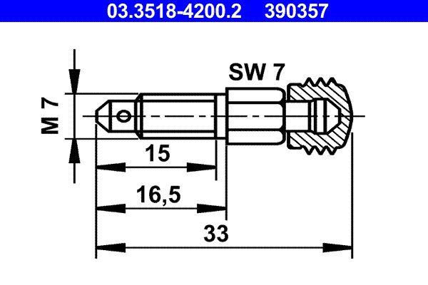 Befestigungsmaterial Entlüfterschraube / -ventil 03.3518-4200.2 kaufen Sie 24 Stunden am Tag