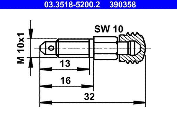 Ventilationsskruv / -ventil 03.3518-5200.2 köp - Dygnet runt!