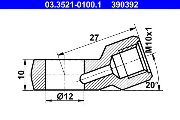 Universal hoses/pipes 03.3521-0100.1 ATE — only new parts