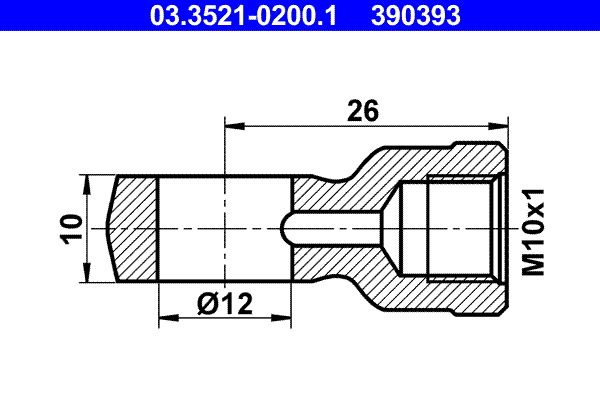 Universal hoses/pipes 03.3521-0200.1 ATE — only new parts