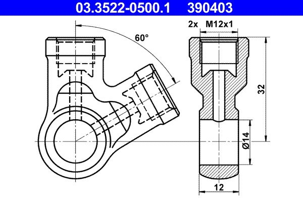 Universal hoses/pipes 03.3522-0500.1 ATE — only new parts