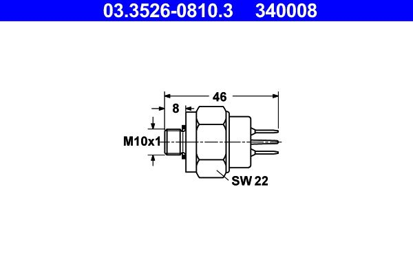 Brake light pedal switch 03.3526-0810.3 ATE — only new parts