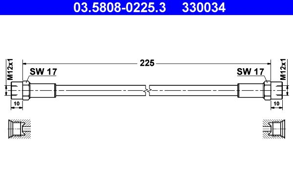 Clutch hose 03.5808-0225.3 ATE — only new parts