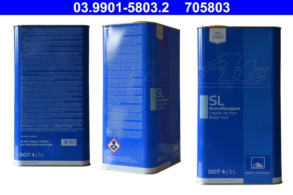 Car spare parts VW ILTIS 1983: Brake Fluid ATE 03.9901-5803.2 at a discount — buy now!