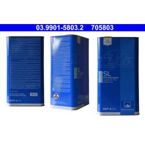 Pirkti 705803 ATE DOT 4 5l Stabdžių skystis 03.9901-5803.2 nebrangu