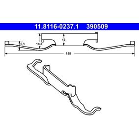 ATE 11.8116-0143.1 Ressort /étrier de frein