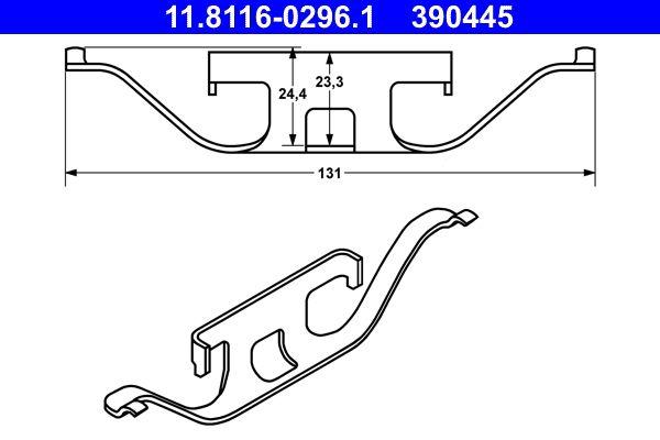Buy original Brake system ATE 11.8116-0296.1