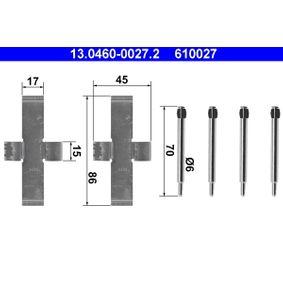 610027 ATE Scheibenbremse Zubehörsatz, Scheibenbremsbelag 13.0460-0027.2 günstig kaufen