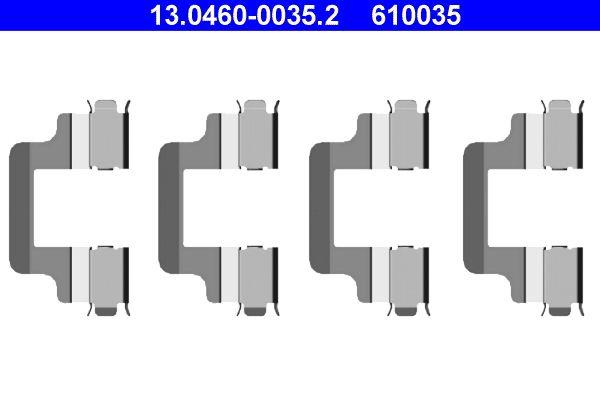 610035 ATE Scheibenbremse Zubehörsatz, Scheibenbremsbelag 13.0460-0035.2 günstig kaufen