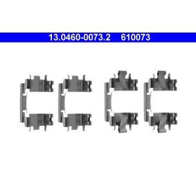 610073 ATE Scheibenbremse Zubehörsatz, Scheibenbremsbelag 13.0460-0073.2 günstig kaufen