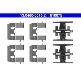 610075 ATE Scheibenbremse Zubehörsatz, Scheibenbremsbelag 13.0460-0075.2 günstig kaufen