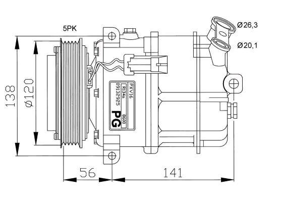 Original OPEL Kompressor 32117