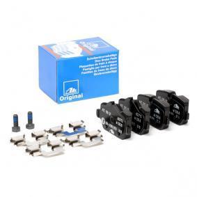 Αγοράστε 23624 ATE προετοιμασμένο για ένδειξη φθοράς, εξαιρ. επαφής προειδ. φθοράς, με βίδες δαγκάνας φρένων, με αξεσουάρ Ύψος 1: 51,0mm, Ύψος 2: 44,6mm, Πλάτος 1: 95,2mm, Πάχος: 17,4mm Σετ τακάκια, δισκόφρενα 13.0460-2713.2 Σε χαμηλή τιμή