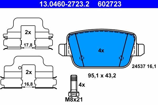 13.0460-2723.2 ATE Bremsbelagsatz, Scheibenbremse Bewertung
