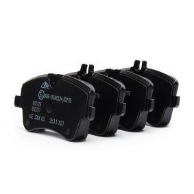 23145 ATE für Verschleißwarnanzeiger vorbereitet, exkl. Verschleißwarnkontakt, mit Bremssattelschrauben, mit Zubehör Höhe 1: 69,8mm, Höhe 2: 62,1mm, Breite: 131,1mm, Dicke/Stärke: 19,8mm Bremsbelagsatz, Scheibenbremse 13.0460-2726.2 günstig kaufen