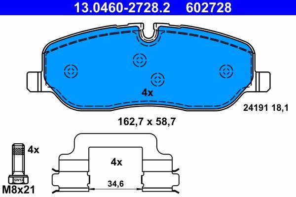 Original LAND ROVER Bremssteine 13.0460-2728.2