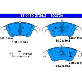 Kaufen Sie Bremsbelagsatz, Scheibenbremse 13.0460-2734.2 MERCEDES-BENZ CLS zum Tiefstpreis!