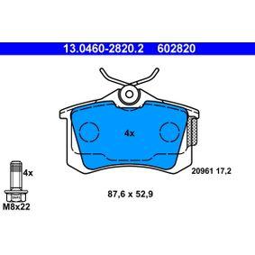 Scheibenbremse 13.0460-2816.2 für PEUGEOT ATE Bremsbelagsatz