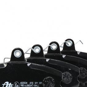 602834 ATE inkl. Verschleißwarnkontakt, mit Anti-Quietsch-Blech, mit Bremssattelschrauben Höhe: 64,9mm, Breite: 99,9mm, Dicke/Stärke: 17,4mm Bremsbelagsatz, Scheibenbremse 13.0460-2834.2 günstig kaufen