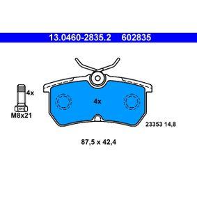 13.0460-2835.2 Sada brzdových destiček, kotoučová brzda ATE - Levné značkové produkty