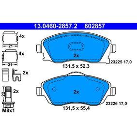 ATE 13.0460-2857.2 Bremsbelagsatz Scheibenbremse