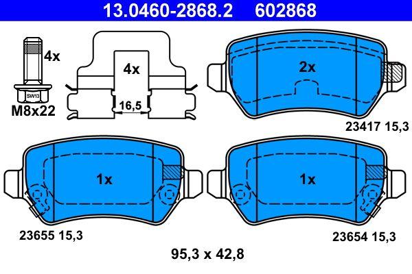 13046028682 Bremsbeläge ATE 23655 - Große Auswahl - stark reduziert