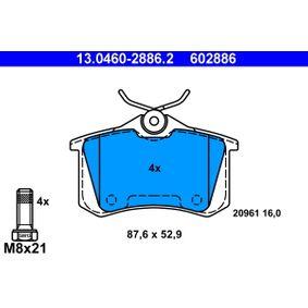 13.0460-2886.2 Bremsbelagsatz, Scheibenbremse ATE in Original Qualität