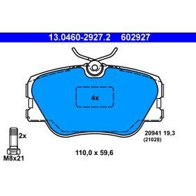 Kaufen Sie Bremsbelagsatz, Scheibenbremse 13.0460-2927.2 MERCEDES-BENZ KOMBI zum Tiefstpreis!