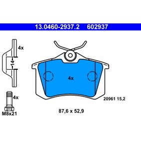 Brake Pad Set, disc brake 13.0460-2937.2 for VW CORRADO at a discount — buy now!