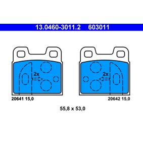 Brake Pad Set, disc brake 13.0460-3011.2 for ALFA ROMEO ALFETTA at a discount — buy now!