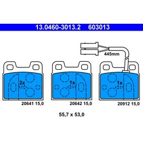 Brake Pad Set, disc brake 13.0460-3013.2 for ALFA ROMEO SZ at a discount — buy now!