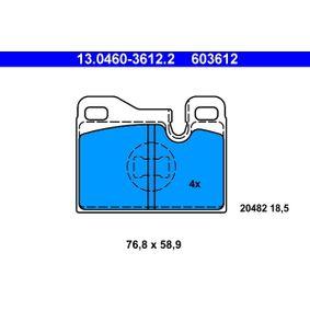 Scheibenbremse ATE 13.0460-3806.2 Bremsbelagsatz