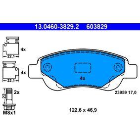 Kit de plaquettes de frein, frein à disque 13.0460-3829.2 CITROËN C1 à prix réduit — achetez maintenant!