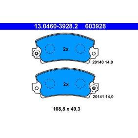 stabdžių trinkelių rinkinys, diskinis stabdys 13.0460-3928.2 už RENAULT 6 su nuolaida — įsigykite dabar!