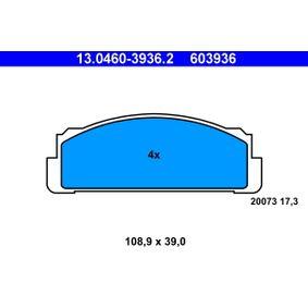 Sada brzdových platničiek kotúčovej brzdy 13.0460-3936.2 FIAT X 1/9 v zľave – kupujte hneď!